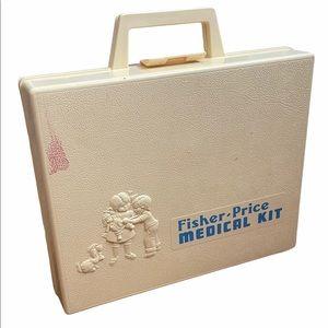Vtg 1977 Fisher-Price Medical Kit Kid Doctor Toy